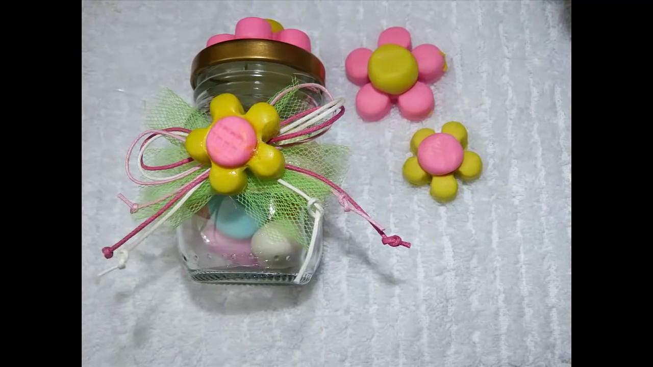 Detalles para regalar frascos decorados facilmente youtube - Detalles de ganchillo para regalar ...