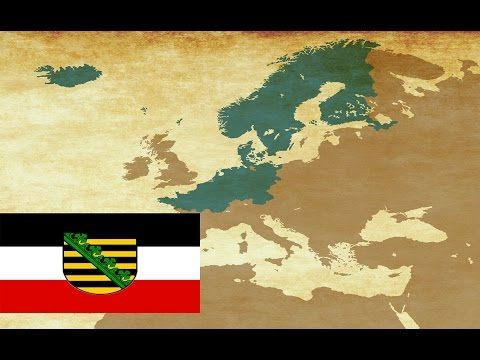German Empire as Saxony - EU4 Timelapse - Meissner Porcelain Achievement