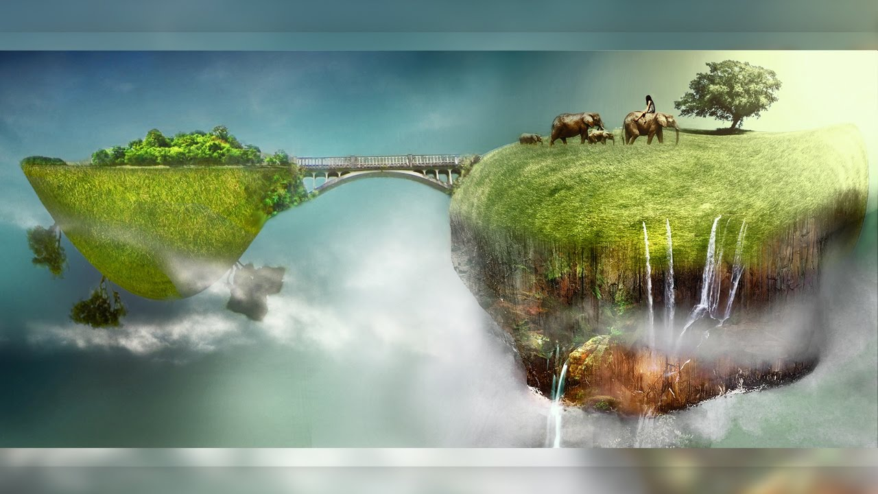 Create Surreal Mini Landscapes In Photoshop YouTube - Photographer combines photoshops his own photos to create surreal landscapes