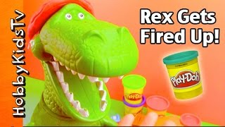 Toy Story Rex Gets NEW Play-Doh FIREMAN Hat! by HobbyKidsTV