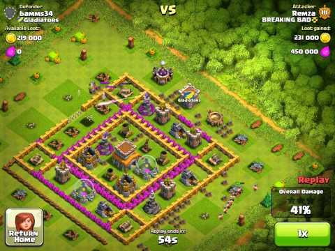 Clash of Clans - Huge 825K Raid w/Tier 1 Troops!