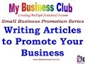 Writing Articles to Promote Your Business - Business Promotion 6