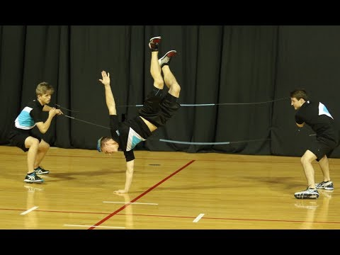 Double Dutch Three Person: Zac Carter Danny WJR 2017 (COMPETITIVE JUMP ROPE)