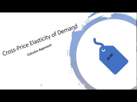 How To Calculate Cross Price Elasticity With Calculus Youtube
