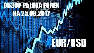 Торговый план по евро доллар  EUR/USD на 25.08.2017 + анализ сделок