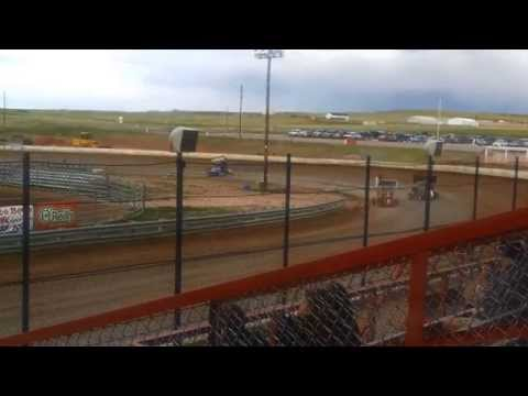 Dirt track RACING Outlaws El paso county Speedway 6 21 2014