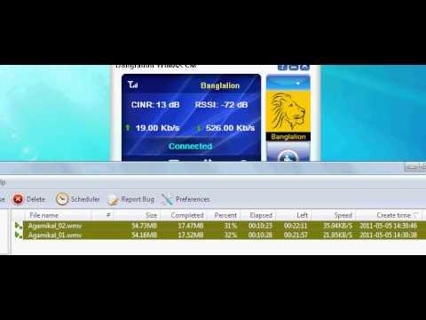 BanglaLion Wimax@512kbps Download Speed 60 65kb Per Scnd