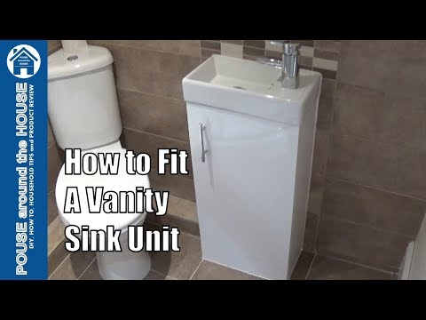 How to install/fit a bathroom sink vanity unit, tap and waste. Plumbing for DIY enthusiasts.