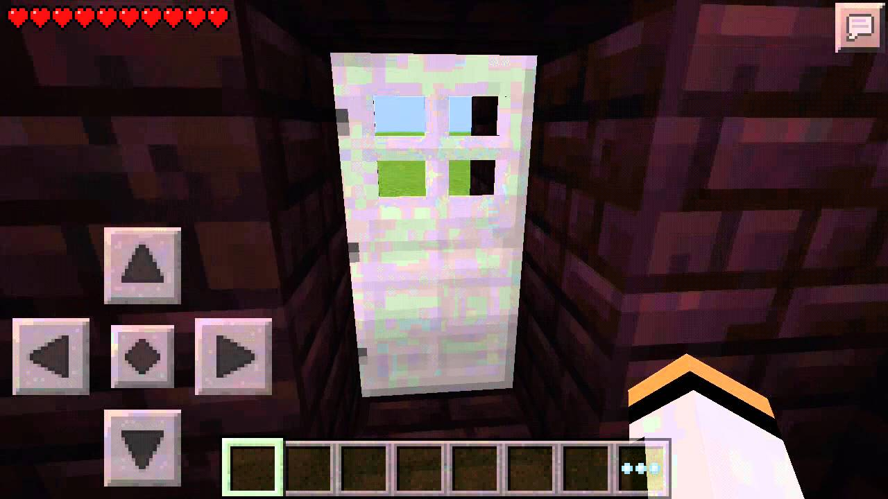 Minecraft Pocket Edition how to open an iron door - YouTube