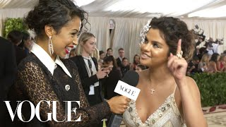 Selena Gomez on Her Faith and Her Queen Esther Inspired Dress | Met Gala 2018 With Liza Koshy thumbnail