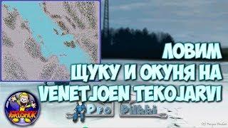 Ловим Щуку и Окуня на Venetjoen Tekojarvi в Pro Pilkki 2 пропилки 2 Симулятор Зимней Рыбалки
