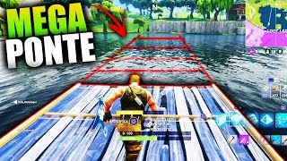 SAVE YOURSELF BY CROSSING THE LAKE WITH A MEGA BRIDGE!! - FORTNITE WITH LAMA AND RAMPAGE!!
