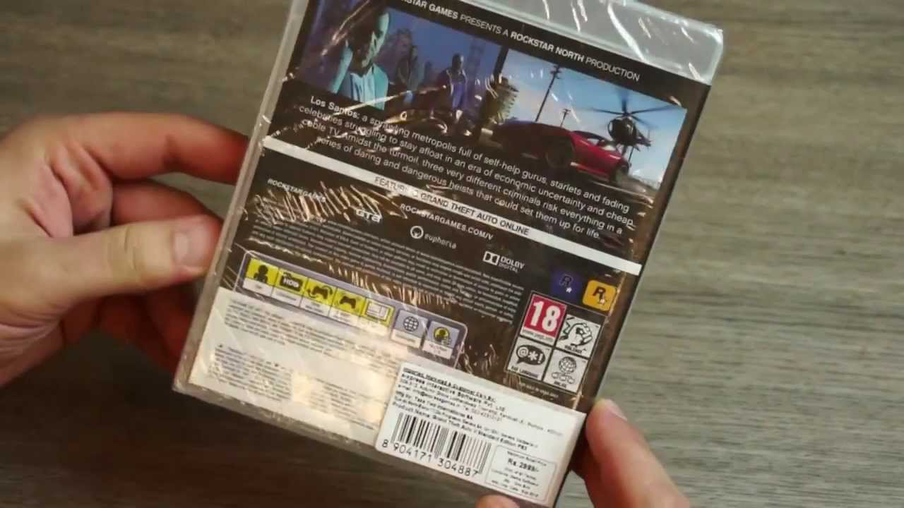 Edition For Ps3 Gta 5 Limited Edition Ps3 Unboxing And Game Play Demo