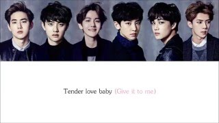 Lyrics EXO-K - TENDER LOVE [Hangul/Romanization/English] COLOR CODED