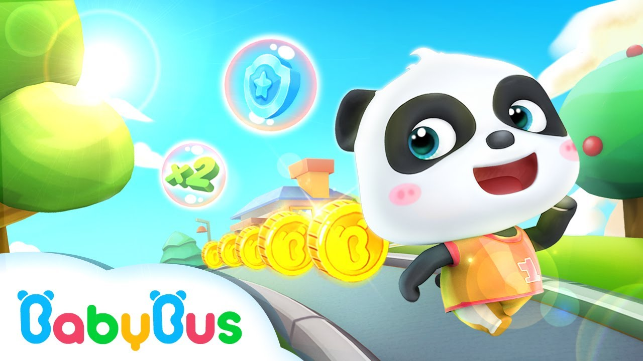 Little Panda Run | Game Preview | Educational Games for kids | BabyBus
