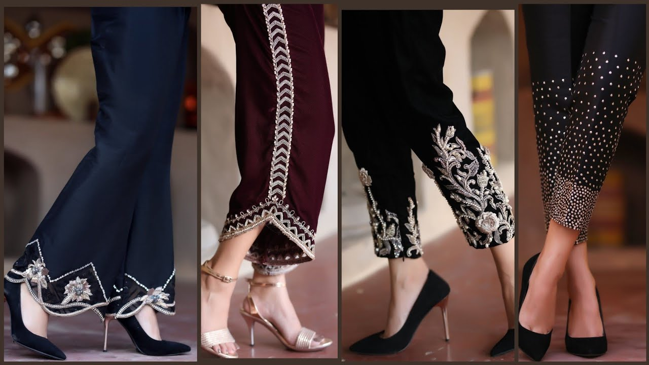 New 44 Most Demanding Very Beautiful Trousers/Pants Designs,velvet Trouser, silk trousers Style