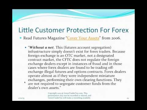 Currency Trading Tax & Regulatory Treatment