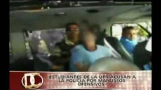 Policía toca y manusea ofensivamente a una estudiante de la UPR