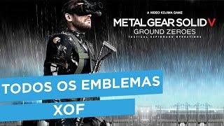 Metal Gear Solid V Ground Zeroes - Todos os emblemas da XOF | All XOF Emblems