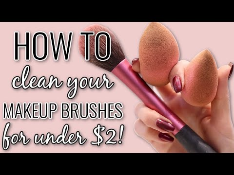 How to Clean Makeup Brushes & Beautyblenders | Cheap & Easy Drugstore Routine!