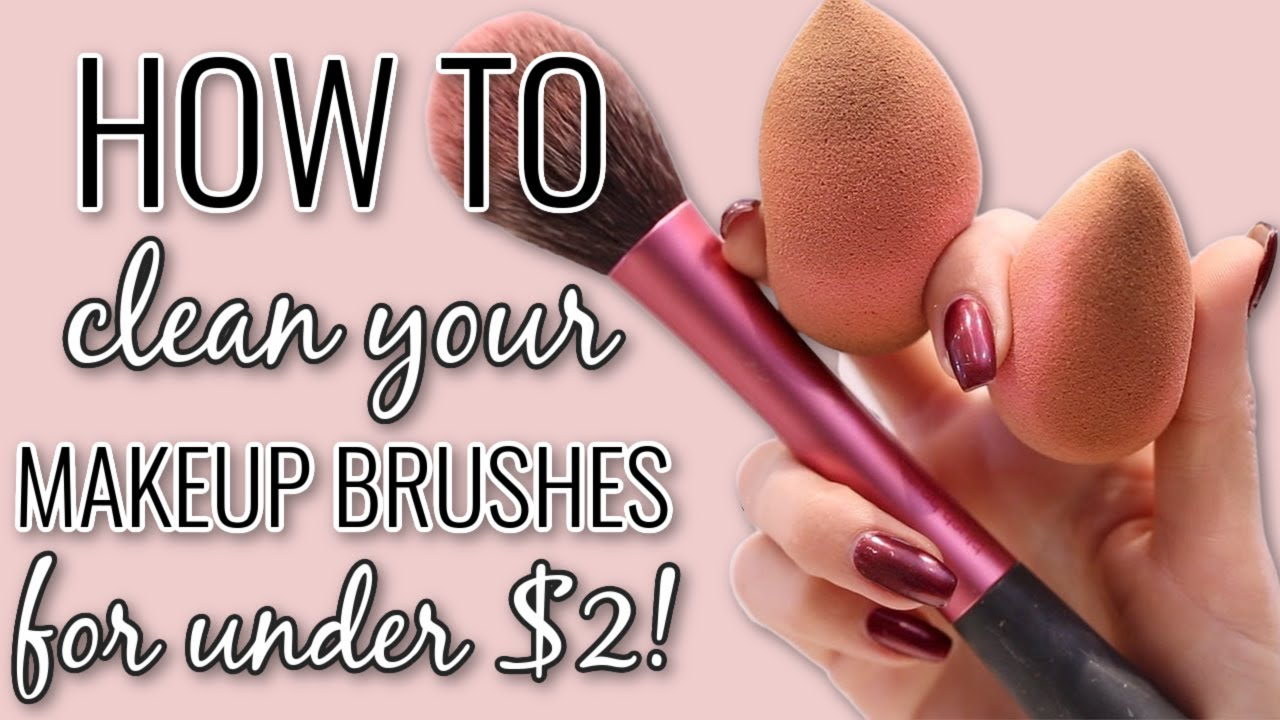 how to clean makeup brushes beautyblenders cheap easy drugstore routine youtube. Black Bedroom Furniture Sets. Home Design Ideas