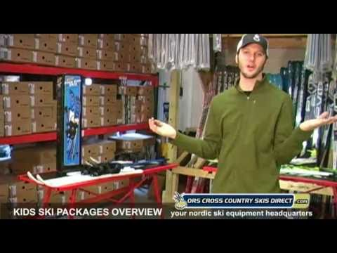 Kids Ski Packages (Skis, Boots, Bindings & Poles) Overview Video By ORS Cross Country Skis Direct