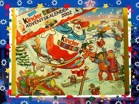24 Kinder Surprise Eggs, Kinder Surprise Advent Calendar, From Series Of 2002