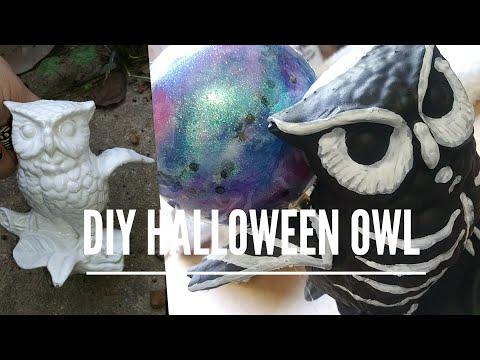DIY Halloween Owl Crystal Ball Decoration