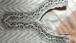 embroidery वाले गले को सिलने का तरीका Neck design