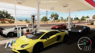Forza Horizon 3 | 1100+HP Lambo Battles | UGR Twin Turbo Murcielago SV, Aventador and Aventador SV