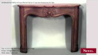 Art Moderne/1940s Antique Mantel Italian Fireplace Accessori