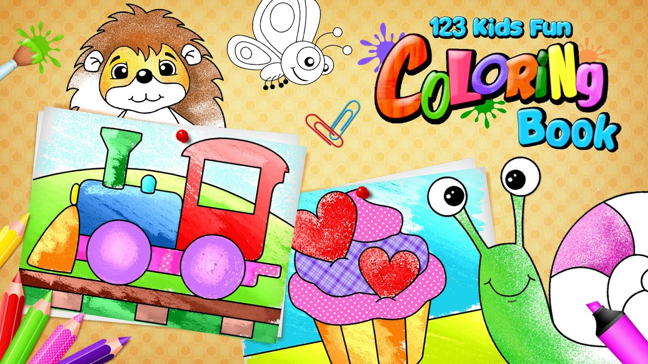 123 kids fun coloring book ios and android app for toddlers and preschoolers youtube - Coloring Apps For Kids