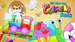 123 Kids Fun Coloring Book - iOS and Android app for toddlers and preschoolers