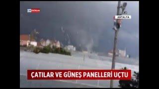 Antalya'da fırtına yağmur ve hortum