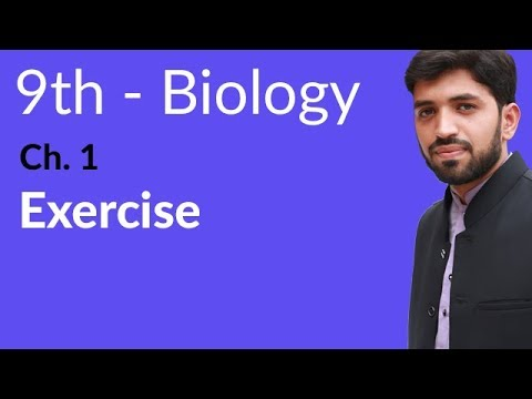 Exercise Chapter 1 Biology - Biology Chapter 1 Introduction to Biology  - 9th Class