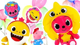 Baby Shark and PinkFong! Make balloons with Pinkfong PangPang balloons! | PinkyPopTOY