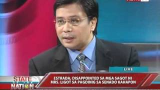 SONA - Sen. Estrada gives preview of Senate impeachment trials 03/22/11