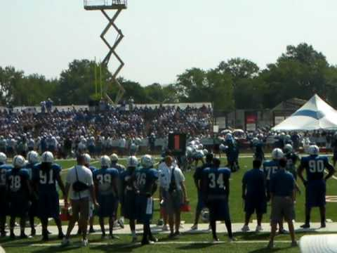 2010 Colts Training Camp Blue Vs. White Scrimmage.