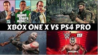 XBOX ONE X VS PS4 PRO #GS6