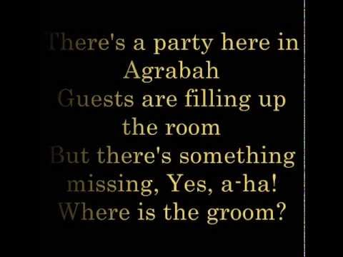 Theres a Party Here in Agrabah   lyrics