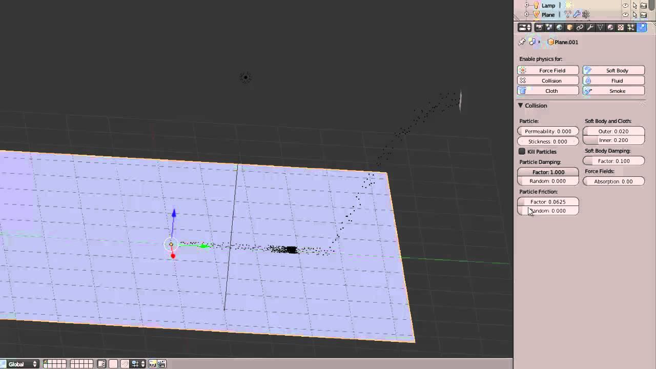 Tutoriel Blender : Simulation - Collision
