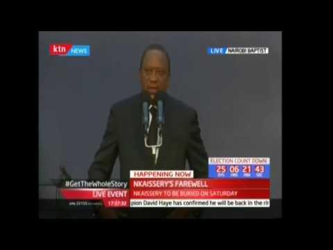 President Uhuru Kenyatta's tribute to the late Nkaissery (Part 1)