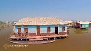 Nueva Venecia CIENAGA GRANDE de Santa Marta, Colombia desde al Aire con Drone