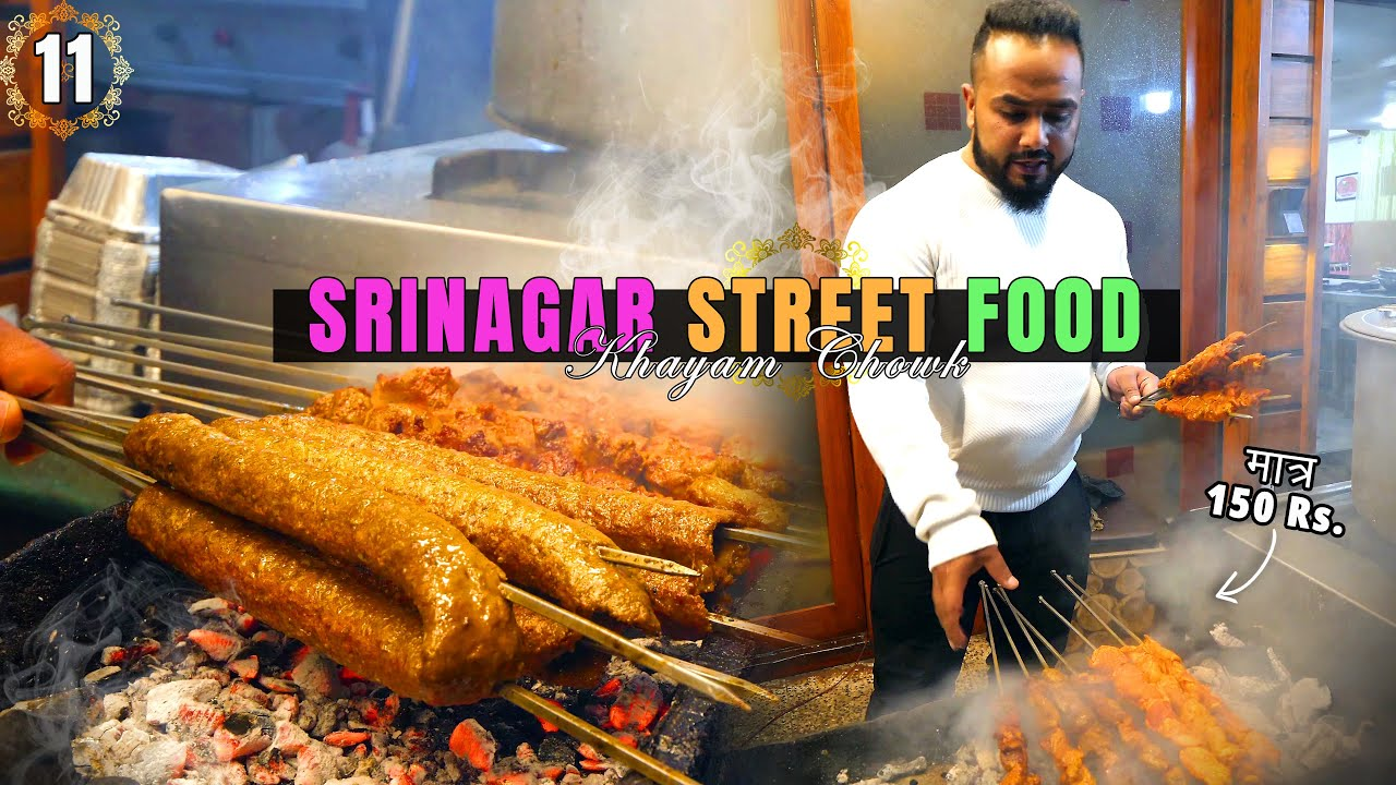 IMRAN CAFETARIA   47-Year Old TUJJ Kabab MASTERS of Khayam   Best BARBECUE of Srinagar, India 🇮🇳