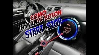 COMO INSTALAR BOTON START STOP