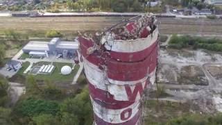 Komin Wistomowski po częściowym zawaleniu