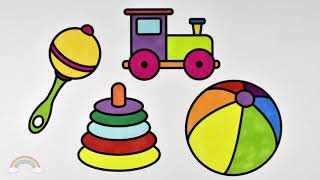 Baby Toys Drawing Coloring Book for Kids   How to Draw Items for Baby