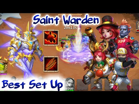 Saint Warden | Best Set Up | Level 70 Done 1st Two Days | Warden Challenge | Castle Clash