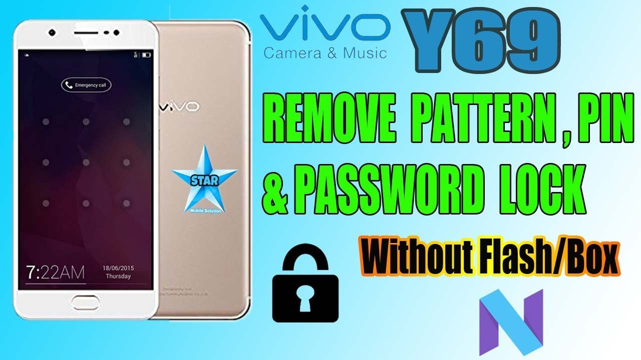Vivo Y69 (1714) Pattern,Pin,Password Lock Remove Without Box | Vivo