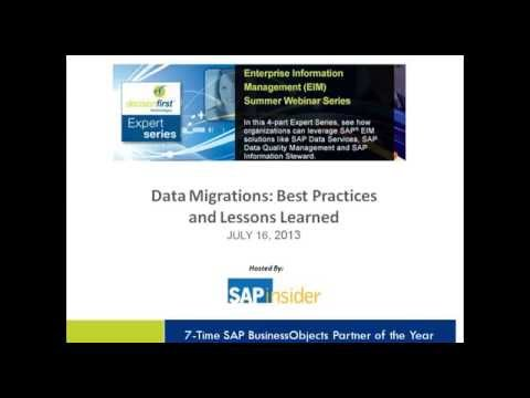Data Migrations Best Practices and Lessons Learned